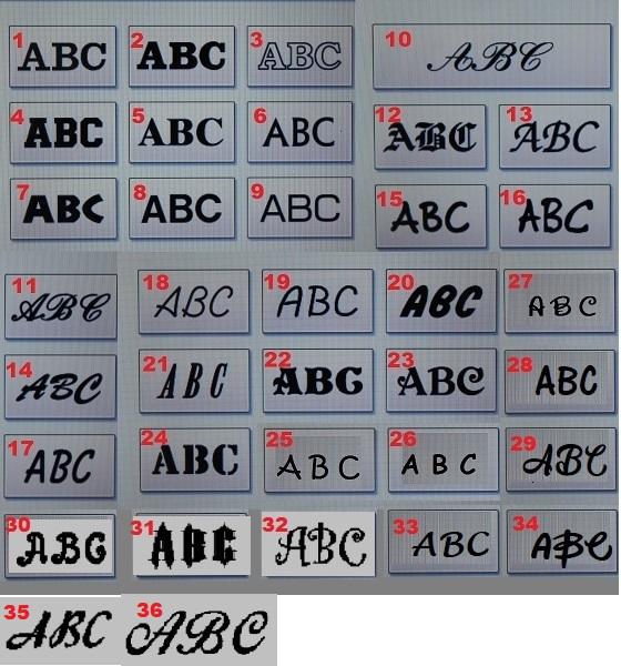 Alle de fede skrifttyper se her