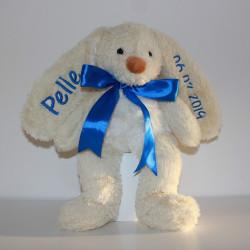 Teddykomapniet stor kanin med navn på.