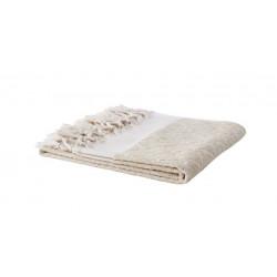 Affari Samos håndklæde i hvid og elfenben.