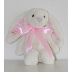 Jellycat creme kanin bamse med navn på