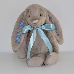 Jellycat beige kanin bamse med navn på