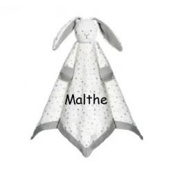 Økologisk kanin sutteklud med navn på