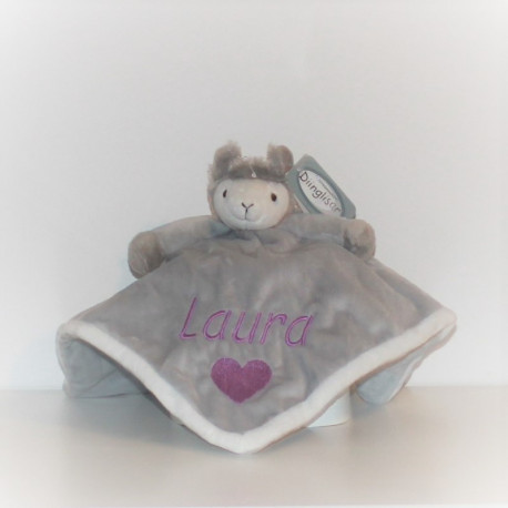 Teddykoompaniet Lama nusseklud med navn og fødselsdato på