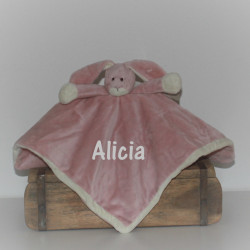Tedddykompaniet rosa kanin sutteklud med navn på