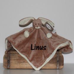 Tedddykompaniet  brun kanin sutteklud med navn på