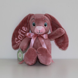 MyTeddy rosa kanin bamse med navn på