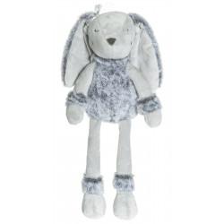 Teddykompaniet  grå Flufisser Iris kanin med navn på