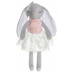 Ballerinas grå  Kelly kanin bamse med navn på