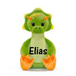 Cubbies grøn dino bamse med navn på