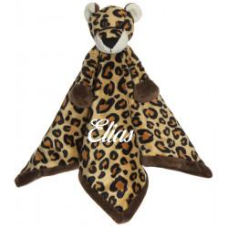 Teddykompaniet plettet leopard sutteklud med navn på
