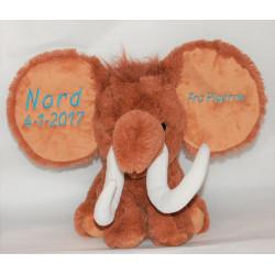 Cubbies Stor mammut bamse  med navn på