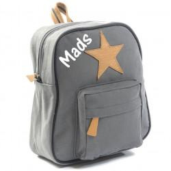 Smallstuff grå børne rygsæk med navn på