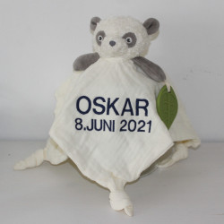 My Teddy Økologisk Panda sutteklud med navn på