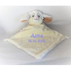 Hvid kanin sutteklud med navn på