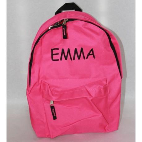 Pink rygsæk med navn på. Sød og personlig gave til børnehaven