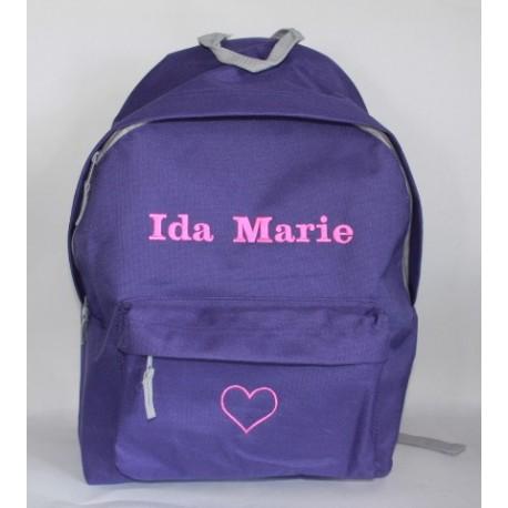 Lilla Junior / børne rygsæk med navn på