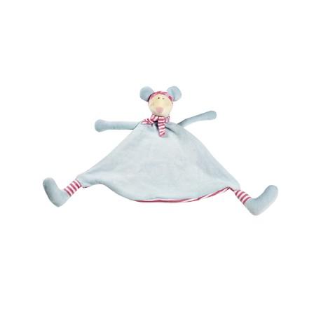 Cubbies lyseblå mus sutteklud med navn på