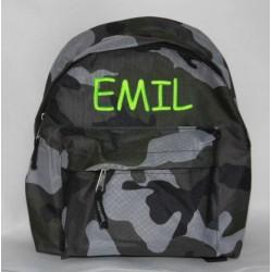 Army børnehave rygsæk med navn på