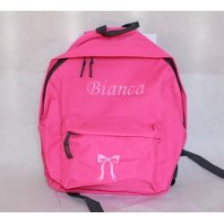 Pink Junior / børne rygsæk med navn på