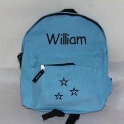 Lyseblå børnehave rygsæk med navn på