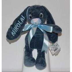 MyTeddy blå kanin bamse med navn på