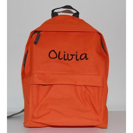 Orange Junior / børne rygsæk med navn på
