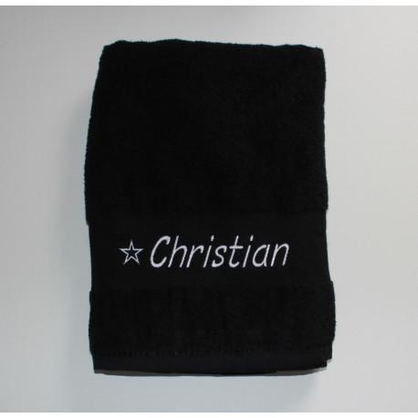 Sports håndklæde med navn  broderet på. Holder vask efter vask