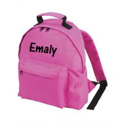 Lyserød børne rygsæk med navn på