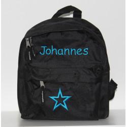 Sort børnehave rygsæk med navn på