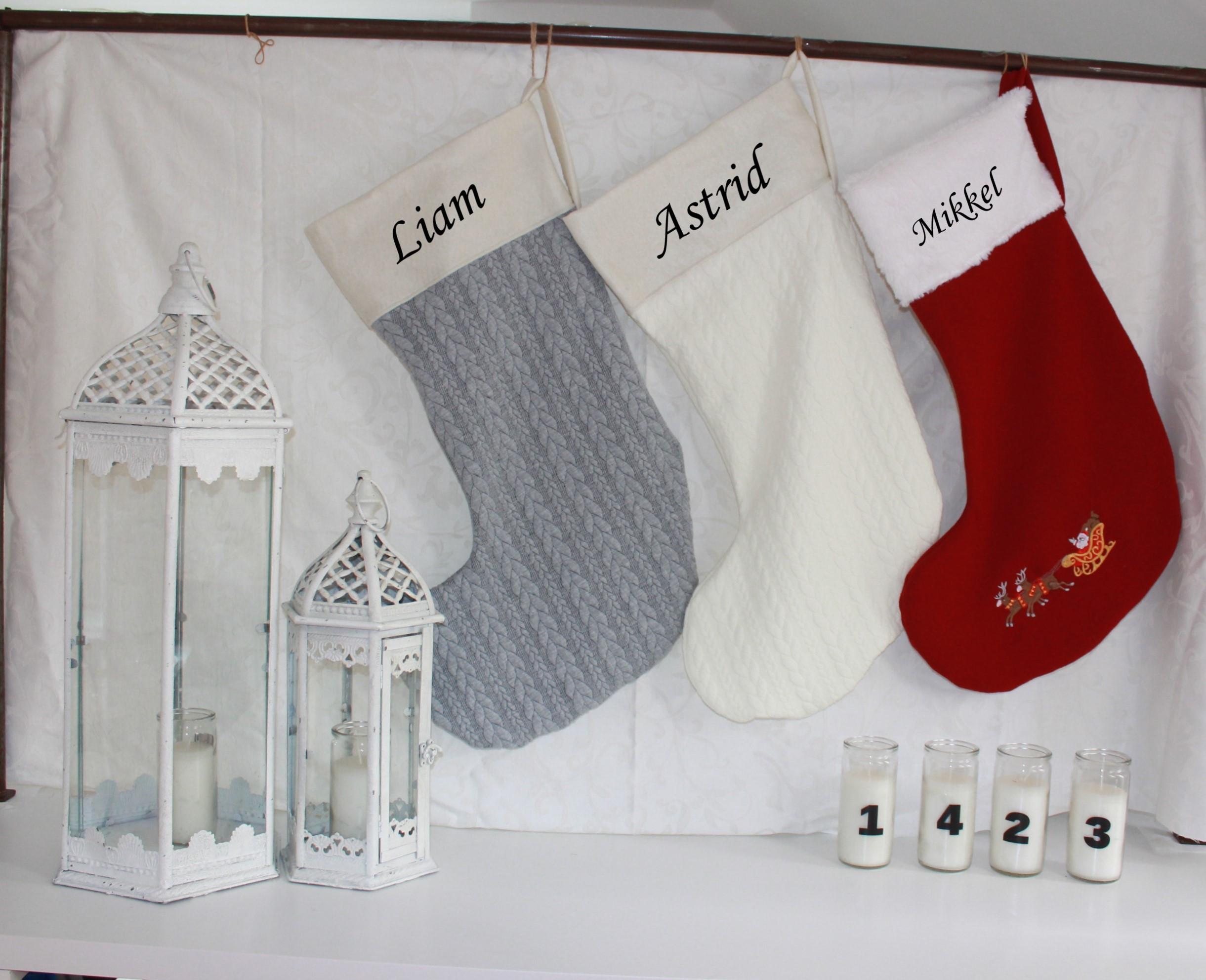 Juleting med navn på